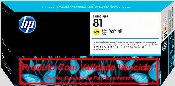 Cabeça Original Vencida HP 81 Yellow (C4953A)