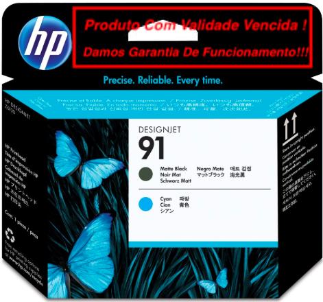 Cabeça Original Vencida HP 91 Matte Black & Cyan (C9460A)