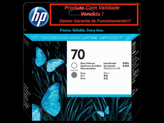 Cabeça Original Vencida HP 70 Gray & Gloss Enhancer (C9410A)