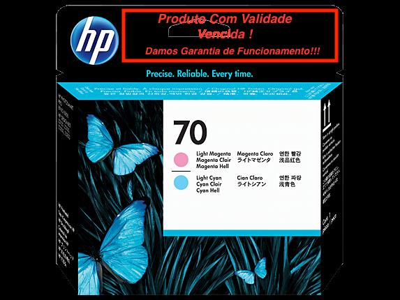 Cabeça Original Vencida HP 70 Light Magenta & Light Cyan (C9405A)