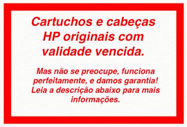 Cabeça Original Vencido HP 73 Matte Black & Chromatic Red (CD949A)