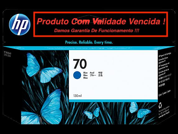 Cartucho Original Vencido HP 70 Blue (C9458A) 130ml