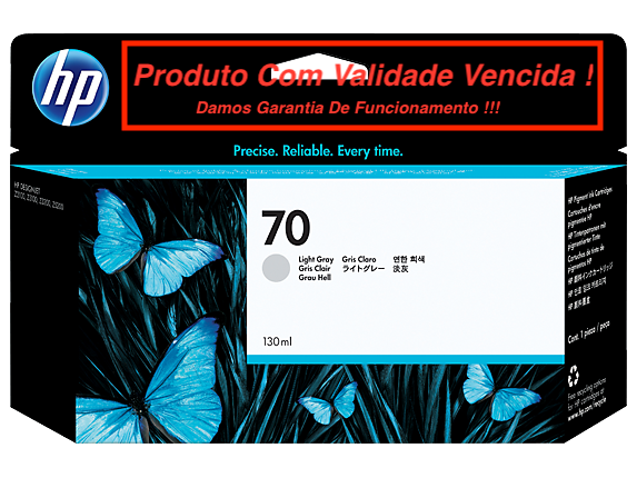 Cartucho Original Vencido HP 70 Light Gray 130ml (C9451A)