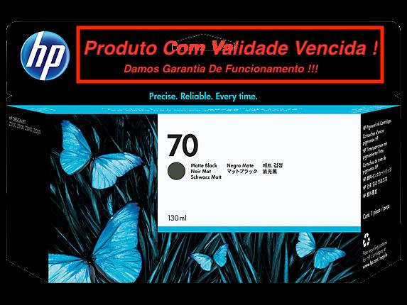Cartucho Original Vencido HP 70 Matte Black (C9448A) 130ml