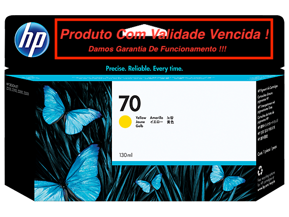 Cartucho Original Vencido HP 70 Yellow (C9454A) 130ml