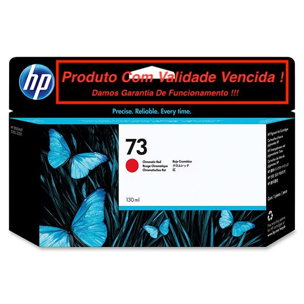 Cartucho Original Vencido HP 73 Chromatic Red (CD951A) 130ml