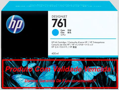 Cartucho Original Vencido HP 761 Cyan  (CM994A) 400ml