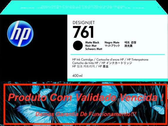Cartucho Original Vencido HP 761 Matte Black  (CM991A) 400ml
