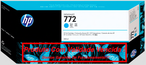 Cartucho Original Vencido HP 772 Cyan (CN636A) 300ml