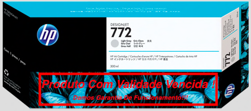 Cartucho Original Vencido HP 772 Light Gray (CN634A) 300ml