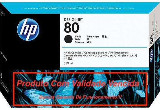 Cartucho Original Vencido HP 80 Black (C4871A) 350ml