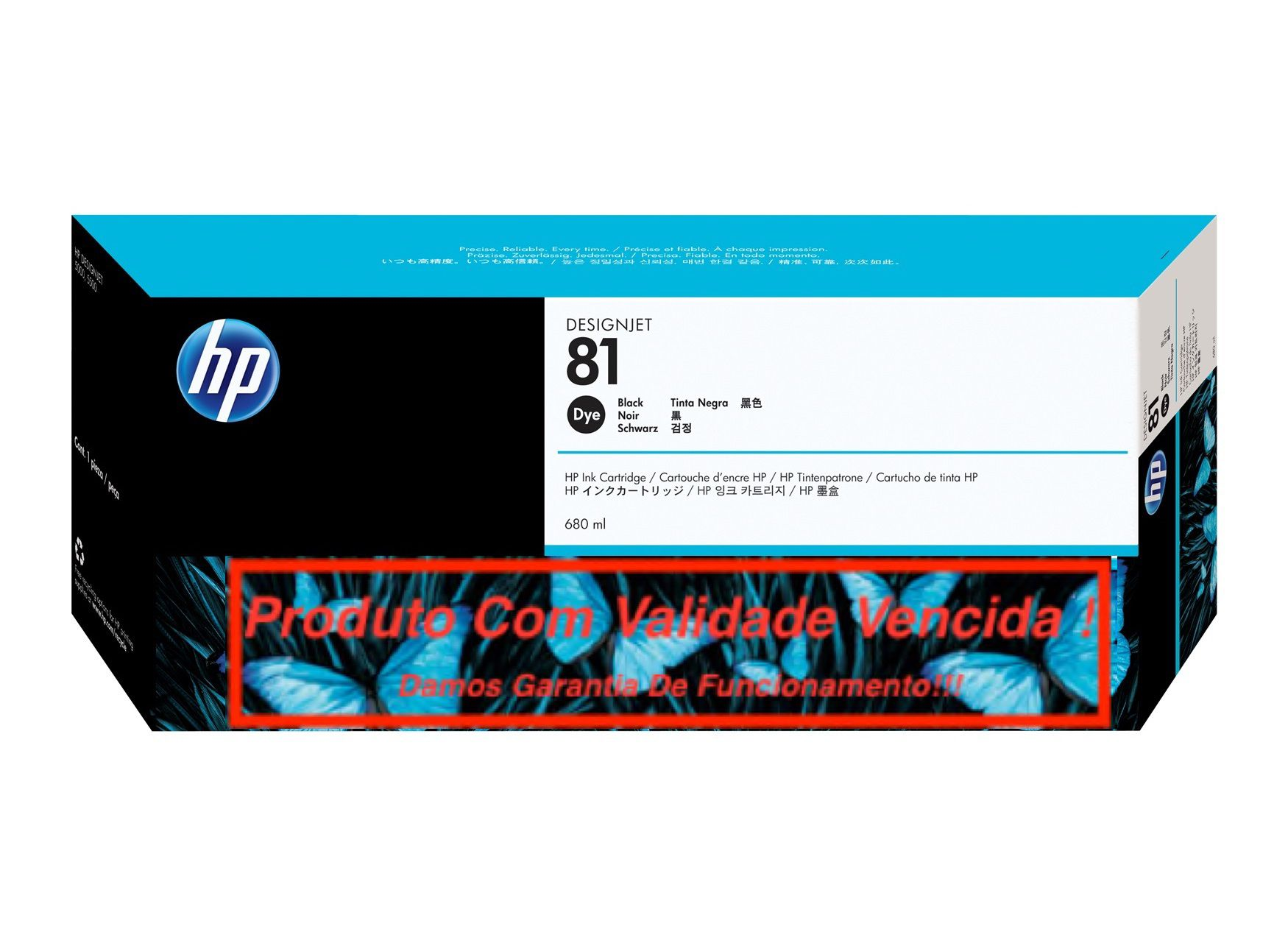Cartucho Original Vencido HP 81 Black (C4930A) 680ml