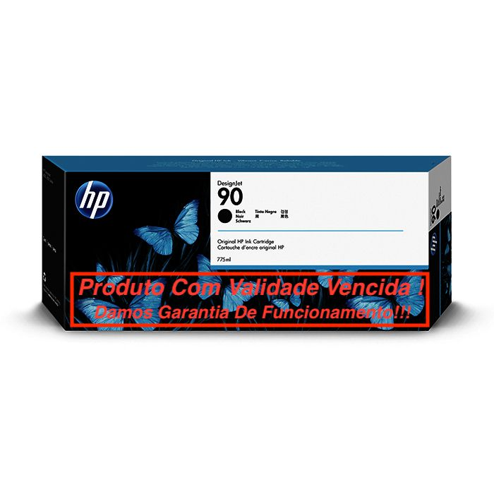 Cartucho Original Vencido HP 90 Black (C5059A) 775ml