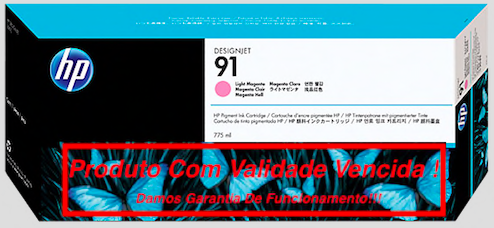 Cartucho Original Vencido HP 91 Light Magenta  (C9471A) 775ml