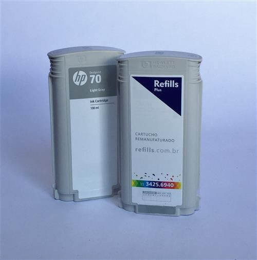 Cartucho Remanufaturado HP 70 Light Gray (C9451A)