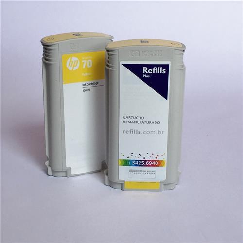 Cartucho Remanufaturado HP 70 Yellow (C9454A)