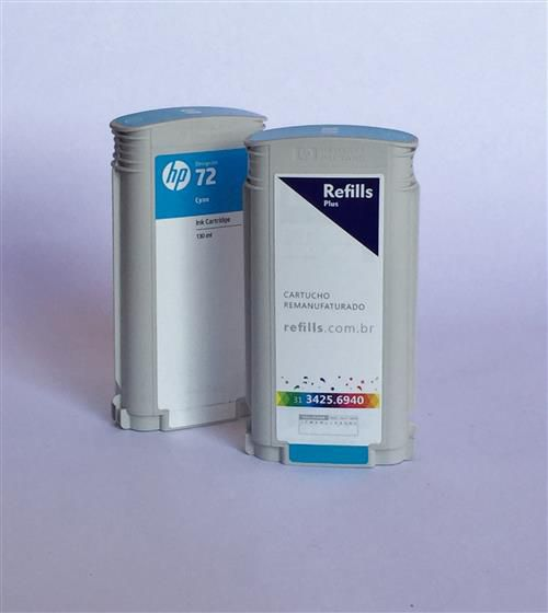 Cartucho Remanufaturado HP 72 Cyan (C9371A)