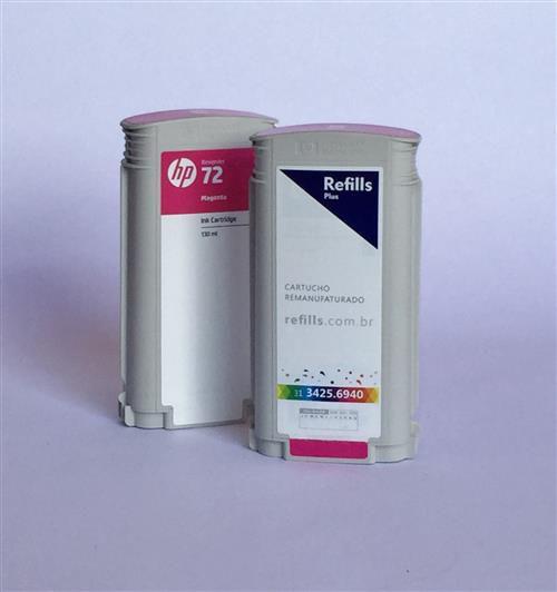 Cartucho Remanufaturado HP 72 Magenta (C9372A)