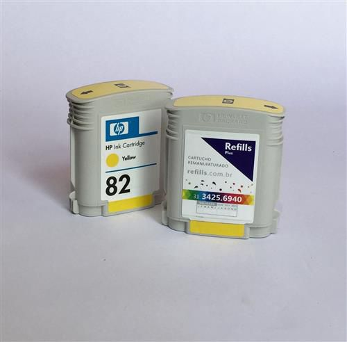 Cartucho Remanufaturado HP 82 Yellow (C4913A)