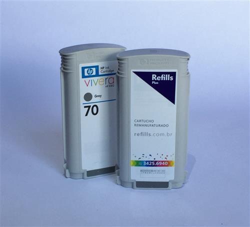 Cartucho Remanufaturado HP 70 Gray (C9450A)