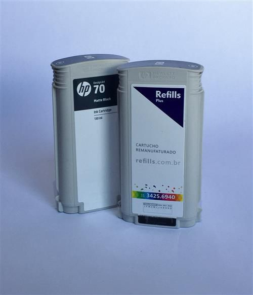 Cartucho Remanufaturado HP 70 Matte Black (C9448A)