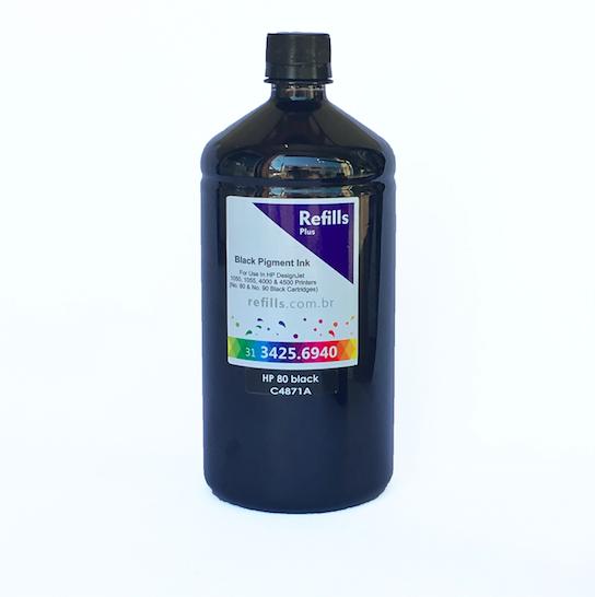 Tinta Para Cartucho HP 80 Black