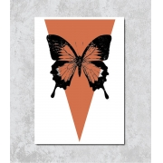 Decorativo - Borboleta Laranja Terroso