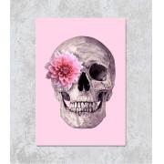 Decorativo - Caveira com Flores