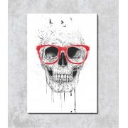 Decorativo - Caveira com Óculos