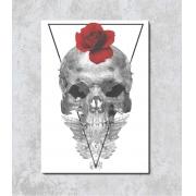 Decorativo - Caveira com Rosa