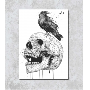 Decorativo - Caveira e Corvo