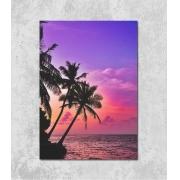 Decorativo - Coqueiros & Pôr-do-sol