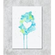 Decorativo - Coração em Aquarela
