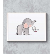 Decorativo - Elefantinho e seu Amigo