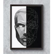 Decorativo - Face geométrica em Low Poly