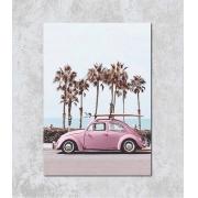 Decorativo - Fusca Rosa na Praia