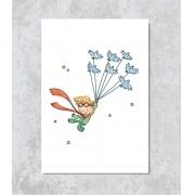 Decorativo - Pequeno Príncipe voando com os Pássaros