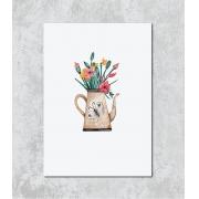 Decorativo -  Vaso Flores