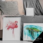 Kit com 2 decorativos - Aquarela