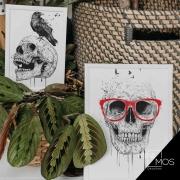 Kit com 2 decorativos - Caveira