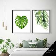 Kit com 2 decorativos - Folhas Tropicais