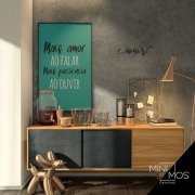 Kit com 2 decorativos - Mais Amor