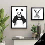 Kit com 2 decorativos - Variados Preto & Branco