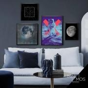 Kit com 4 decorativos - Arte Urbana Espacial