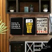 Kit com 3 decorativos - Churrasco