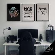 Kit com 3 decorativos - Gamer