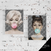 Kit com 2 decorativos - Pop Art Marilyn & Audrey