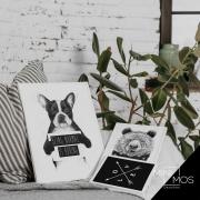 Kit com 3 decorativos - Variados Preto & Branco