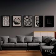 Kit com 5 decorativos - Geométricos