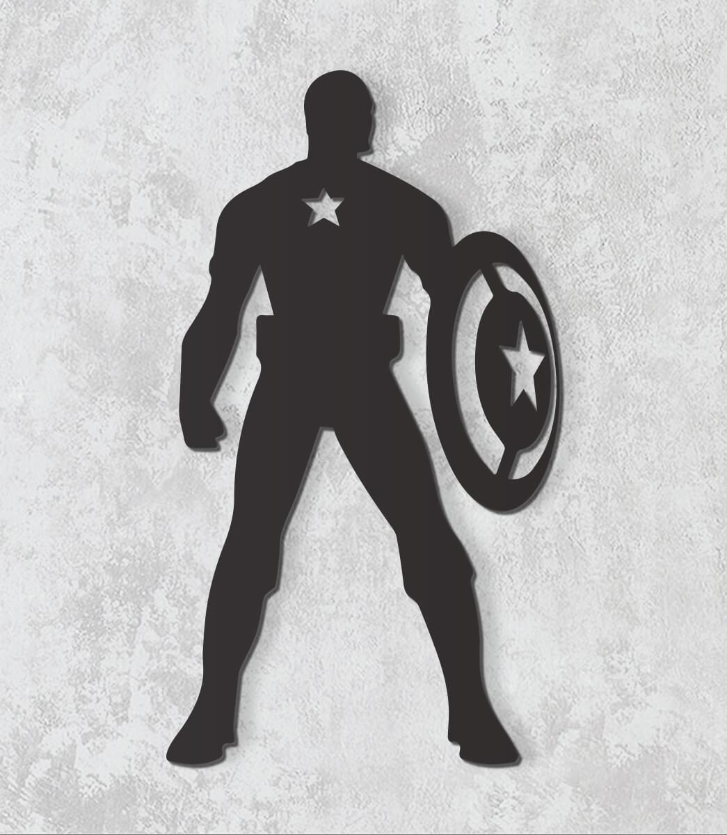 Decorativo 2D - Capitão América